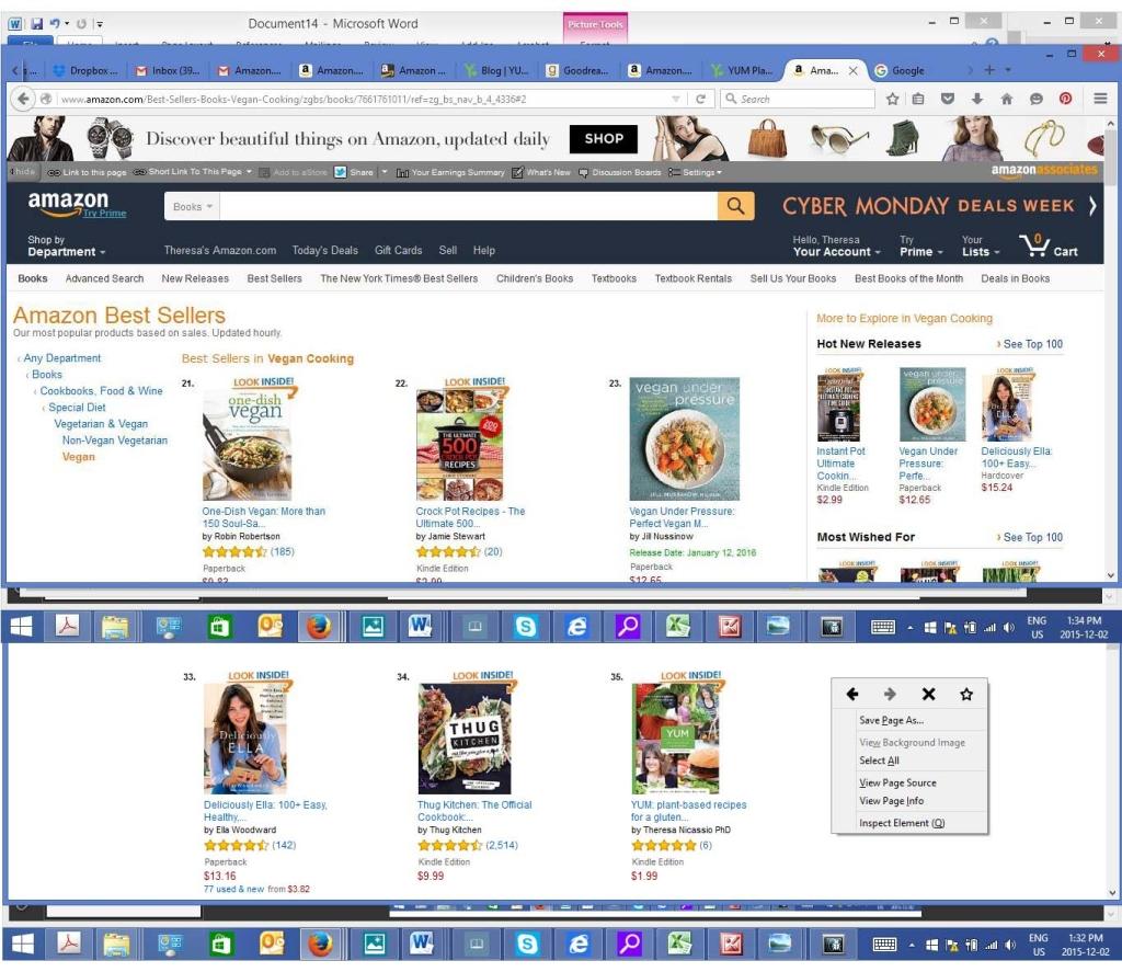 #35 on Amazon.com top 100 Vegan Cookbooks