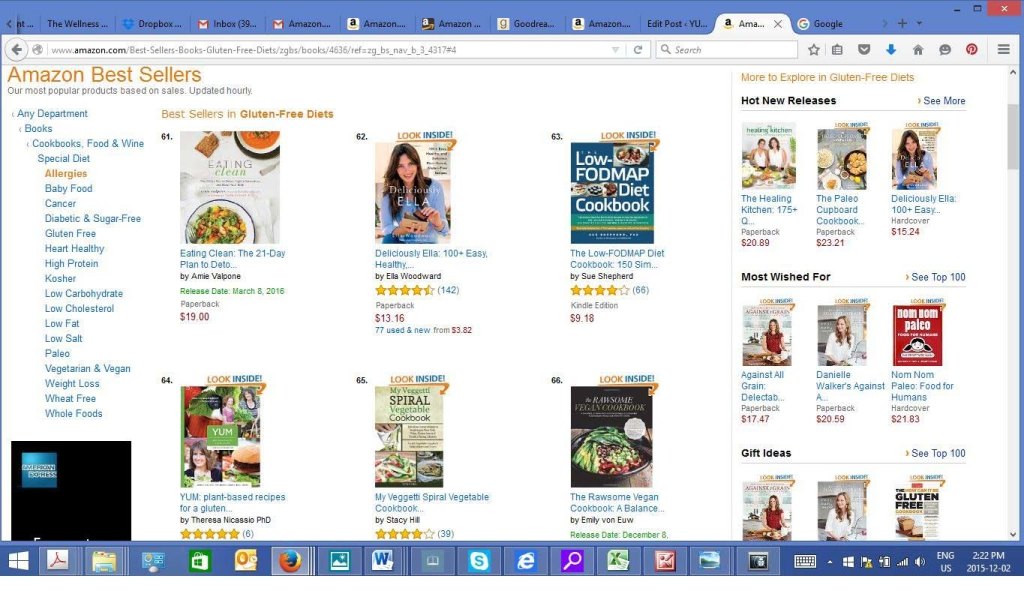 #64 on Amazon.com to Special Diets Allergy Cookbooks