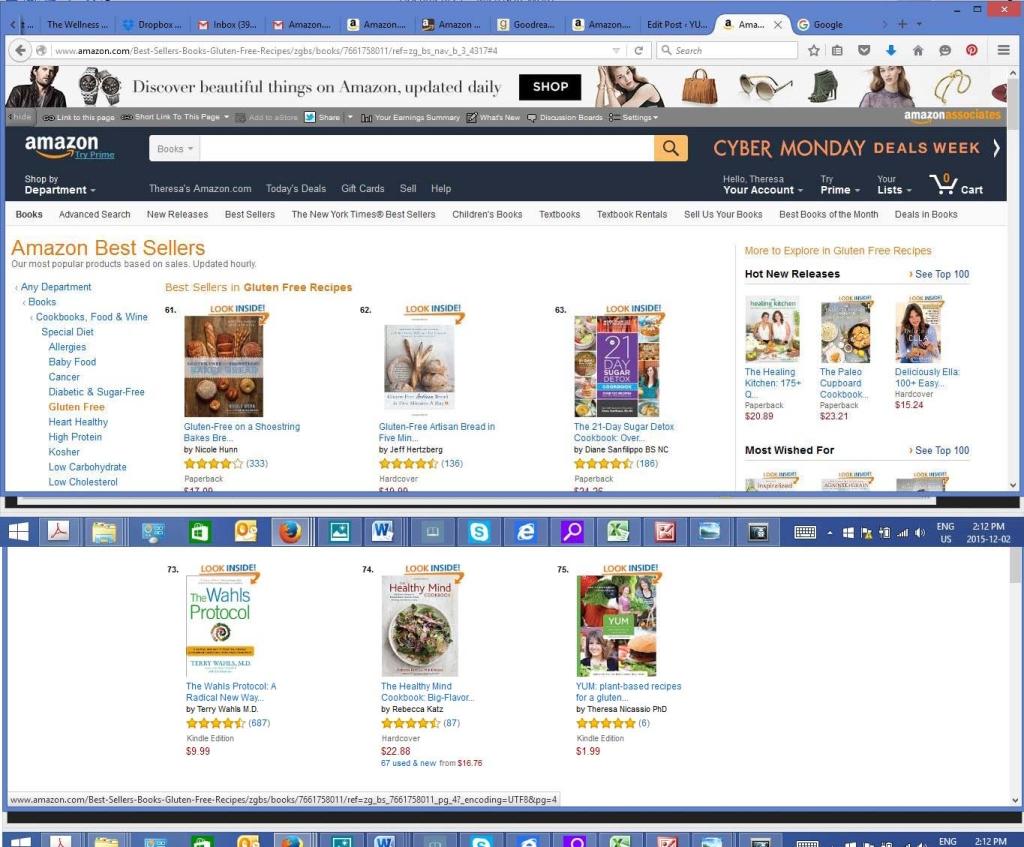 #75 on Amazon.com top Gluten Free Cookbooks
