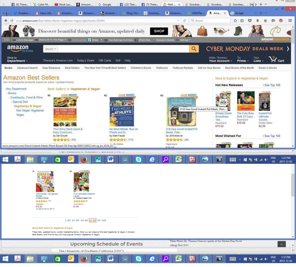 #80 on Amazon.com Bestsellers List of Vegetarian & Vegan Cookbooks