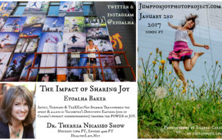 Listen to The Dr. Theresa Nicassio Show & hear Canadian Artist Eyoalha Baker talk about how she uses uses photography to bring more joy & love to the world.