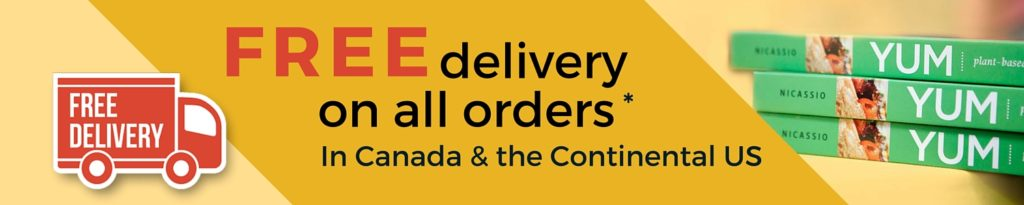 Free delivery on all orders in Canada and the Continental US