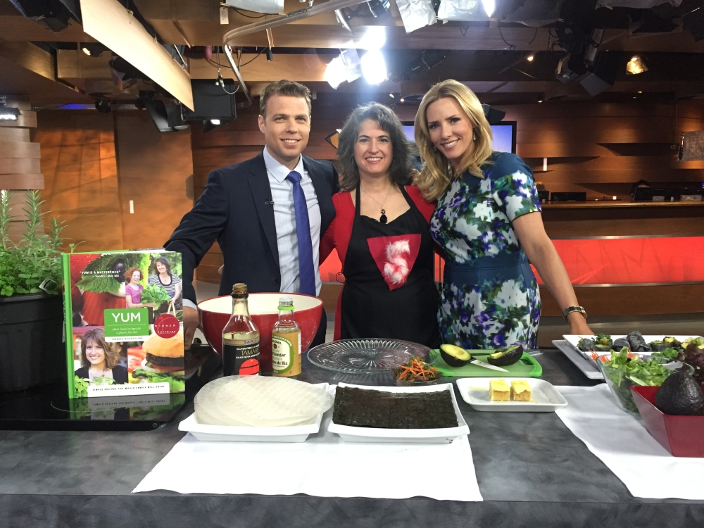 Gluten-free Vegan Nori Rice Paper Rolls on CTV Morning Live