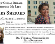 Lunchtime Radio Guest: Jules Shepard, bestselling author and founder of gfJules, talks about living with Celiac Disease on the Dr. Theresa Nicassio Show
