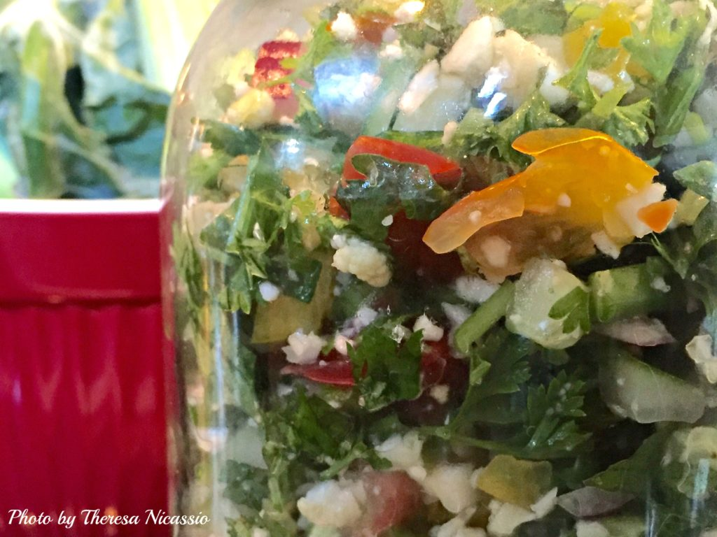 Tabbouleh in Jar