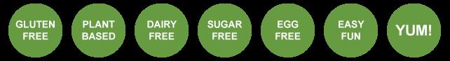 gluten-free, dairy free, sugar free, egg free vegan plant-based recipes