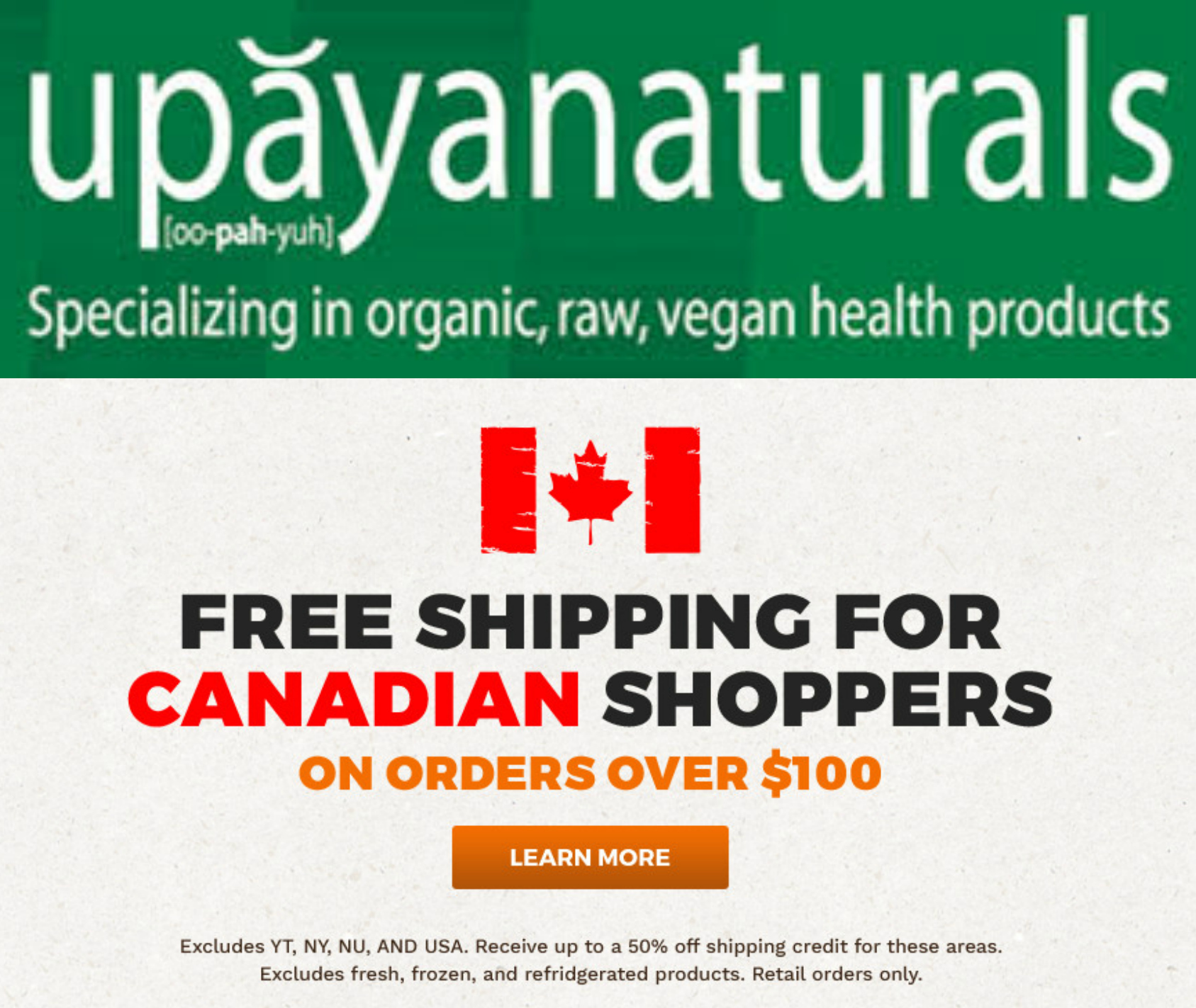 upayanaturals Affiliate Logo and Shipping